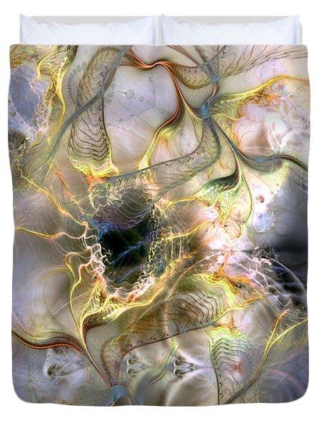 Interconnectedness Of Life Duvet Cover by Casey Kotas