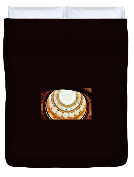 Duvet Cover featuring the photograph Interior Denver Capitol by Marilyn Hunt