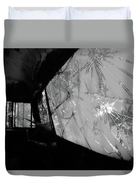 Interior In Gray Duvet Cover
