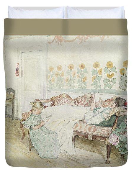 Interior Duvet Cover by Peder Severin Kroyer