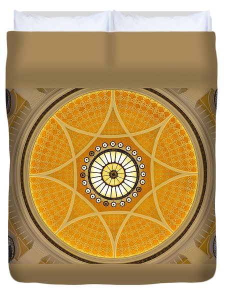 Duvet Cover featuring the photograph Interior Sun by Corinne Rhode