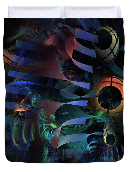 Duvet Cover featuring the digital art Interlude 1536 - Fractal Art by NirvanaBlues
