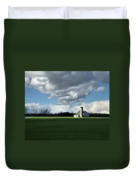 Duvet Cover featuring the photograph Interlude by Robert Geary