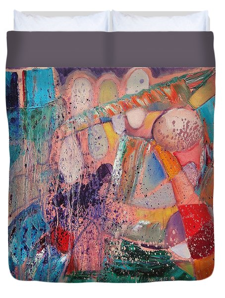 Duvet Cover featuring the painting Internal Dynamics # 1 by Jason Williamson
