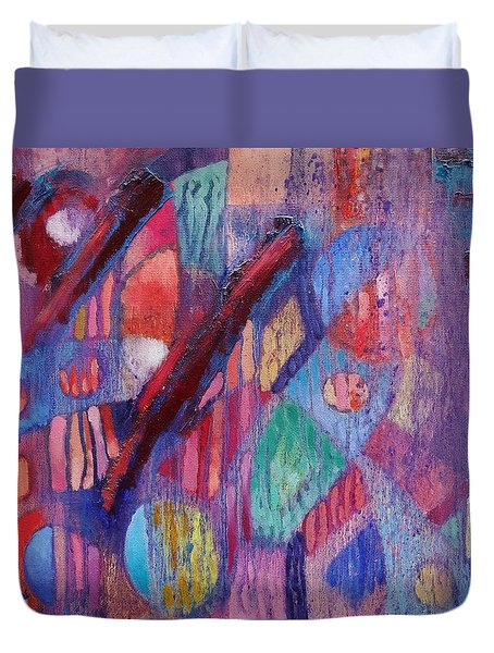 Duvet Cover featuring the painting Internal Dynamics # 2 by Jason Williamson