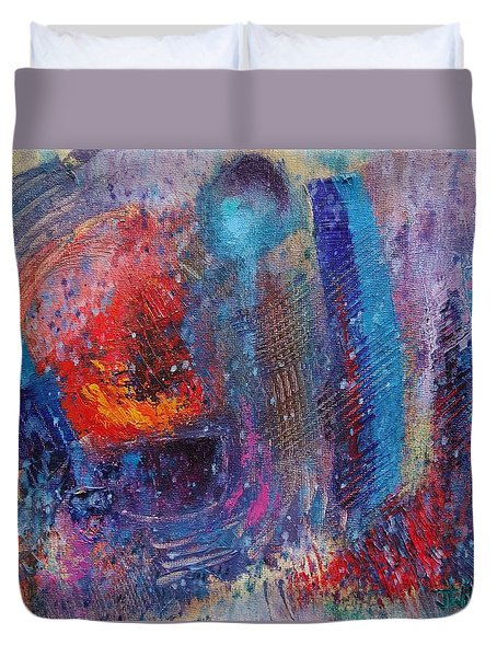 Duvet Cover featuring the painting Internal Dynamics # 3  by Jason Williamson