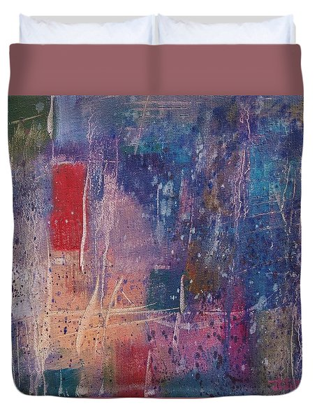Duvet Cover featuring the painting Internal Dynamics # 5 by Jason Williamson