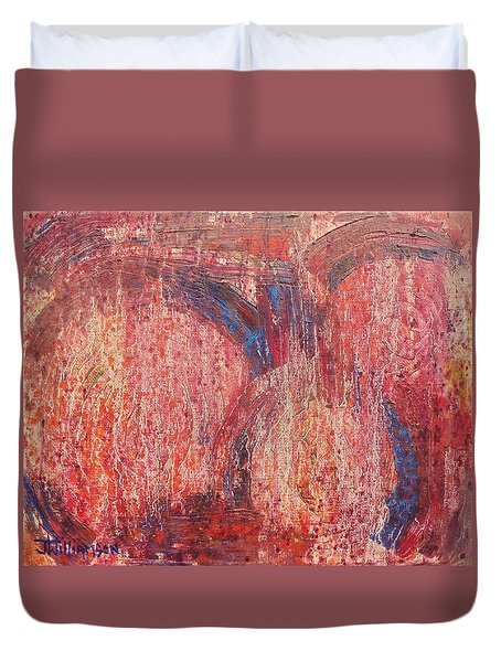 Duvet Cover featuring the painting Internal Dynamics # 7 by Jason Williamson