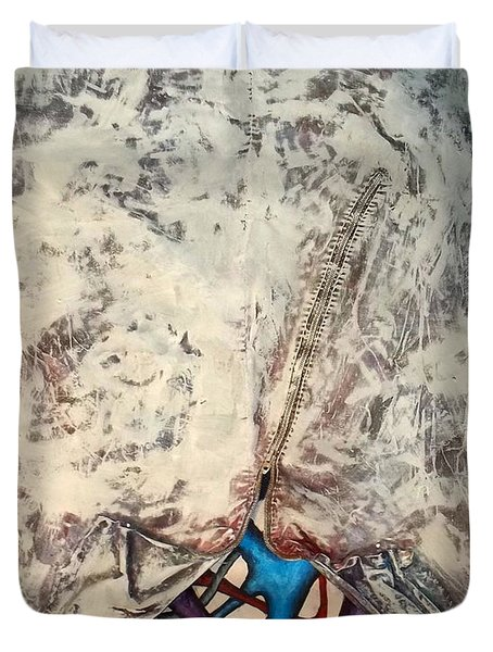 Internally Unzipped Duvet Cover by Nancy Mueller