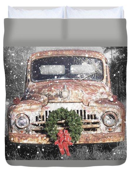 International Christmas Snow Duvet Cover