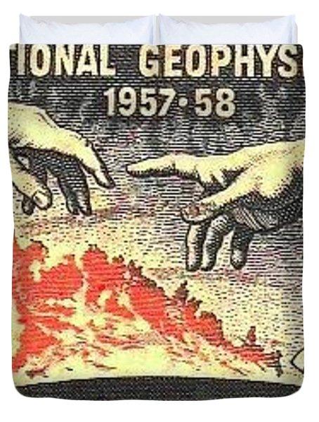 International Geophysical Year Stamp Duvet Cover