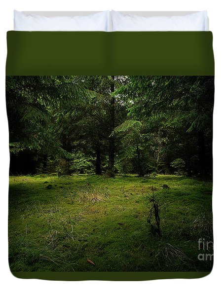 Internationaler Tag Des Waldes - International Day Of Forests - Wood Glade In The Urft Valley Duvet Cover
