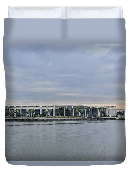 Interntational Trade And Convention Center Duvet Cover