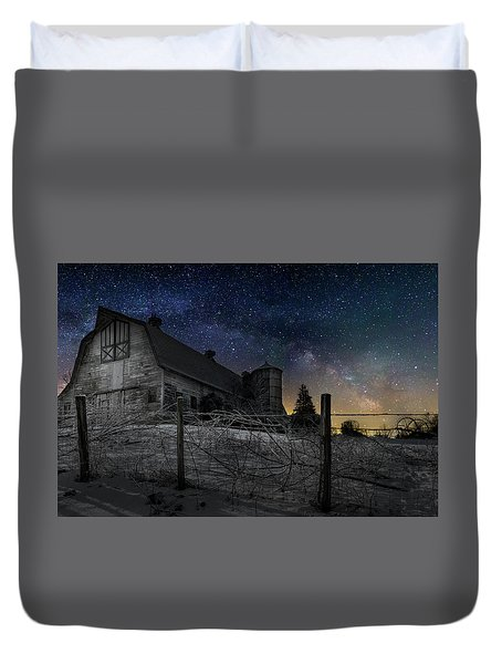 Duvet Cover featuring the photograph Interstellar Farm by Bill Wakeley