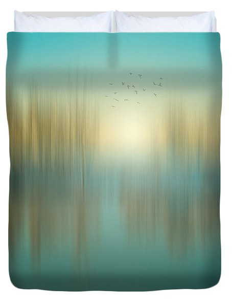 Interval Between Sunrise And Noon Duvet Cover