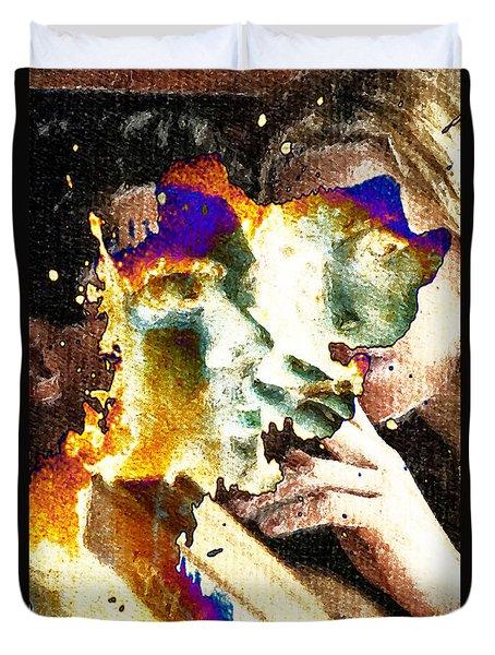 Intimate Conversation Duvet Cover