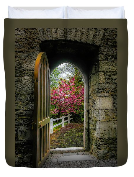 Duvet Cover featuring the photograph Into Irish Spring by James Truett