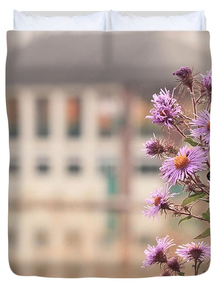 Into The Asters Duvet Cover