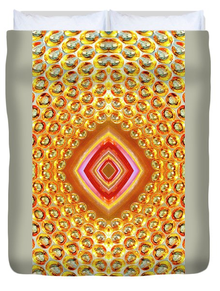 Duvet Cover featuring the digital art Into The Centre - Vertical by Wendy Wilton