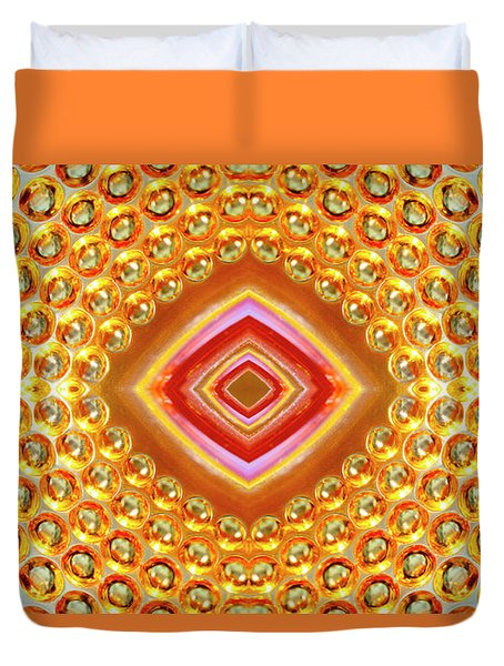 Duvet Cover featuring the digital art Into The Centre - Horizontal by Wendy Wilton