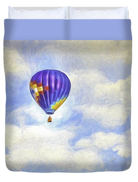 Into The Clouds Duvet Cover by TK Goforth