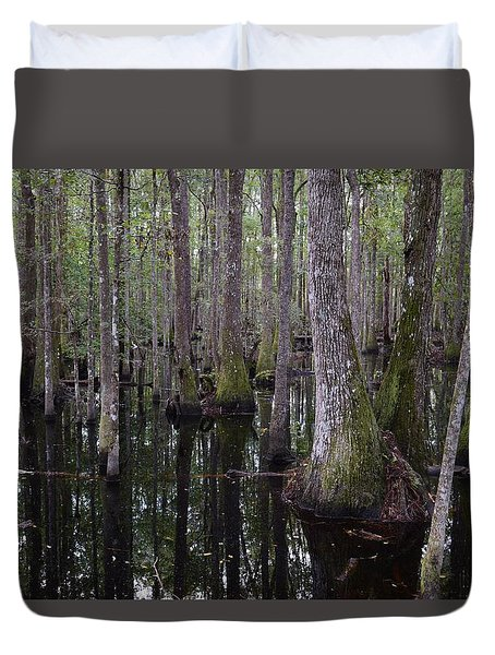Into The Cypress Swamp Duvet Cover
