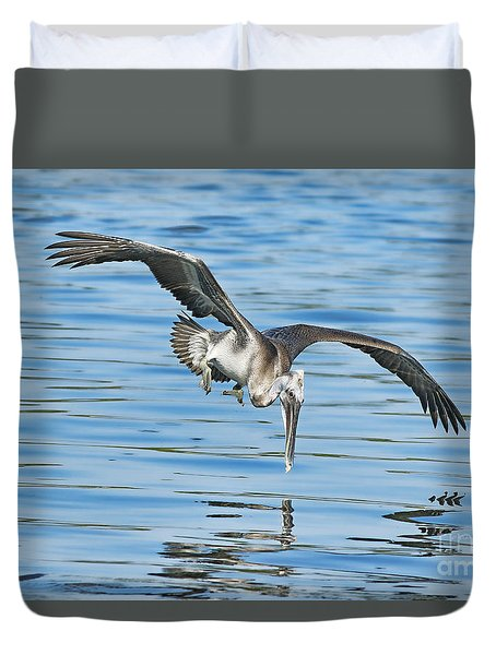 Into The Dive Duvet Cover