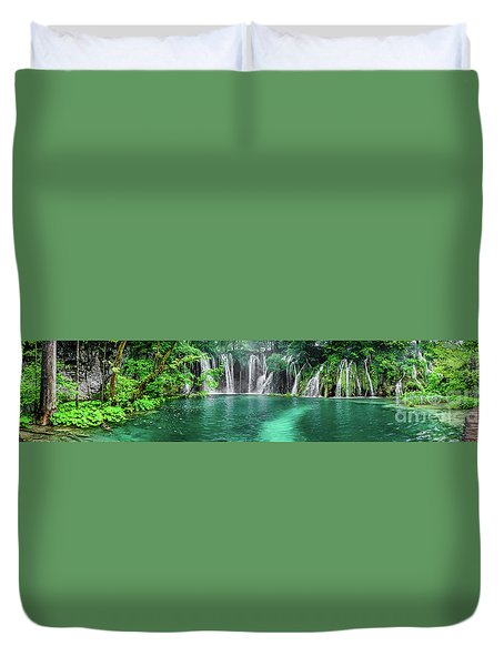 Into The Waterfalls - Plitvice Lakes National Park Croatia Duvet Cover