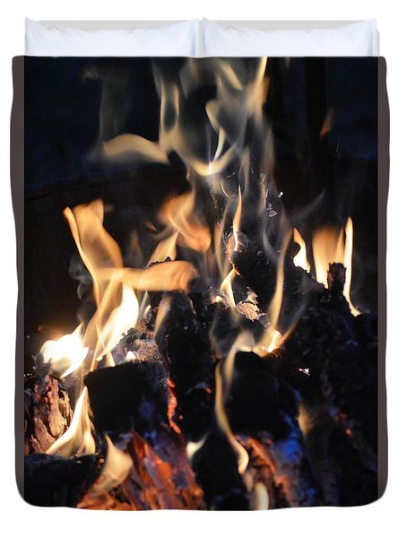 Into The Fire Duvet Cover