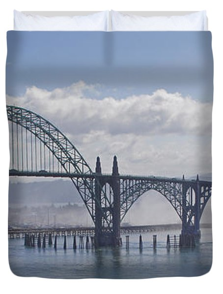 Into The Fog At Newport Duvet Cover by Mick Anderson