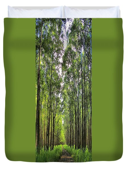 Duvet Cover featuring the photograph Into The Forest I Go by DJ Florek