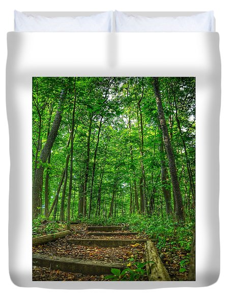Duvet Cover featuring the photograph Into The Forest by Nikki McInnes