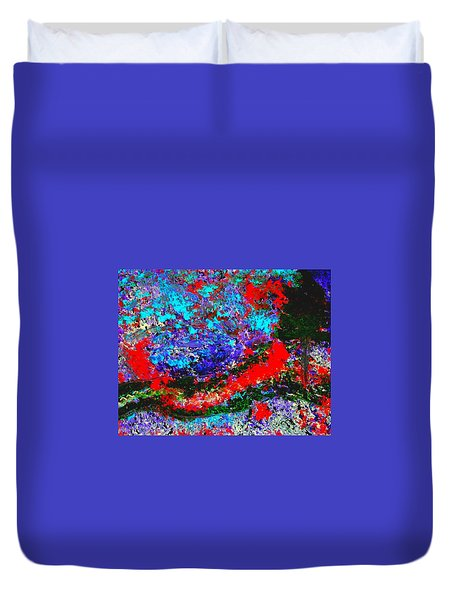Into The Forest Of Midnight Duvet Cover