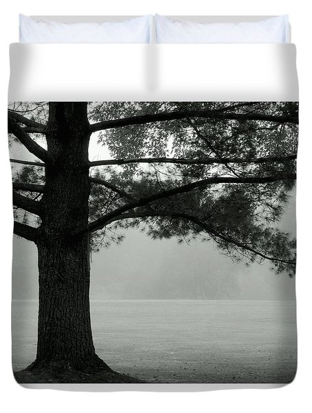 Into The Grey Wide Open Duvet Cover