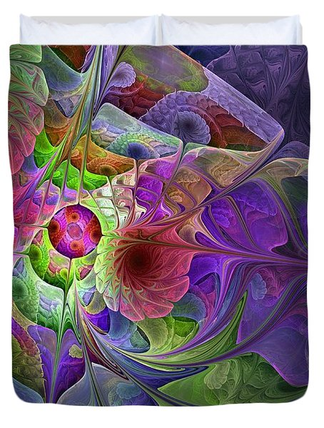 Duvet Cover featuring the digital art Into The Imaginarium  by NirvanaBlues