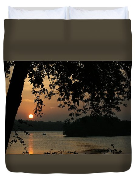 Into The Lake Duvet Cover
