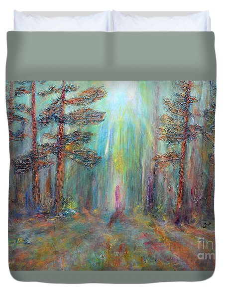Into The Light Duvet Cover by Claire Bull