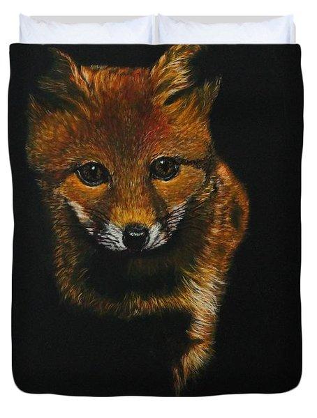 Into The Light......fox Kit Duvet Cover