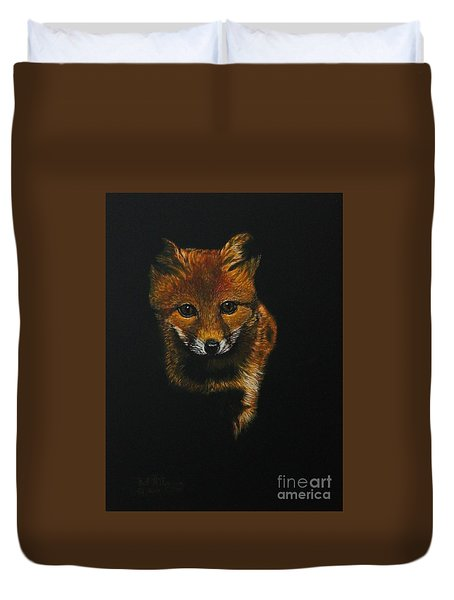 Into The Light......fox Kit Duvet Cover
