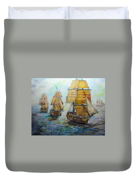 Into The Mediterranean Duvet Cover