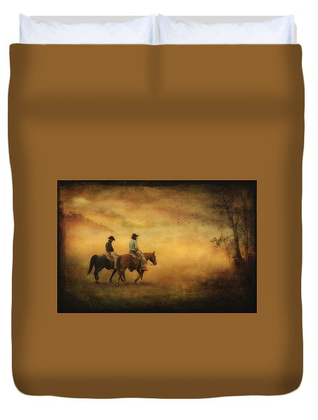 Into The Mist Duvet Cover by Priscilla Burgers