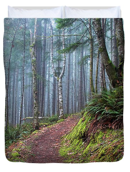 Into The Misty Forest Duvet Cover