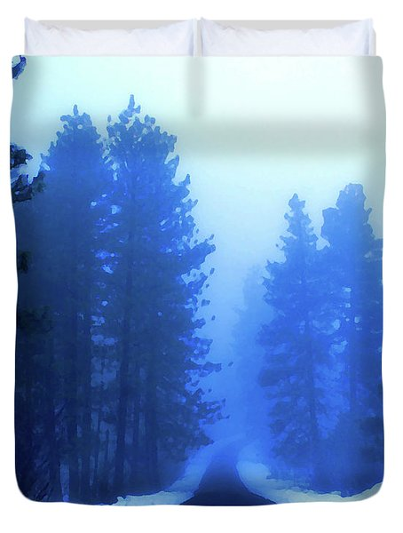 Into The Misty Unknown Duvet Cover