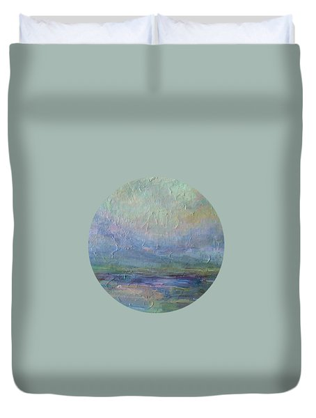 Duvet Cover featuring the painting Into The Morning by Mary Wolf