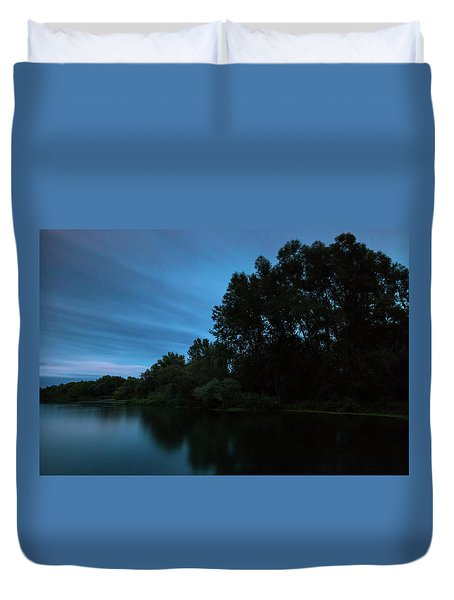 Duvet Cover featuring the photograph Into The Night by Davor Zerjav