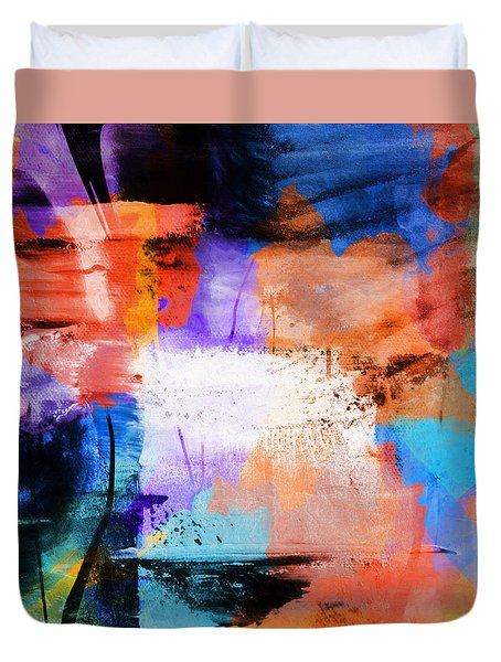 Duvet Cover featuring the painting Into The Open by Dan Sproul