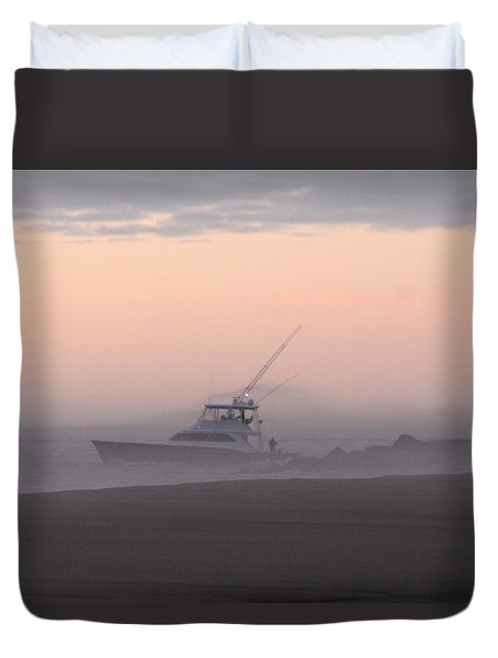 Into The Pink Fog Duvet Cover