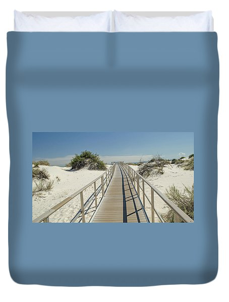 Into The Sands Duvet Cover