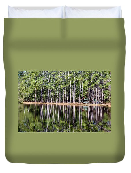 Into The Sc Woods Duvet Cover