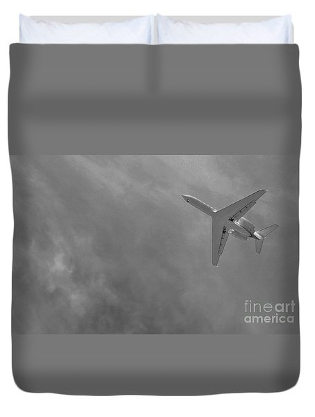 Duvet Cover featuring the photograph Into The Storm by Angela J Wright